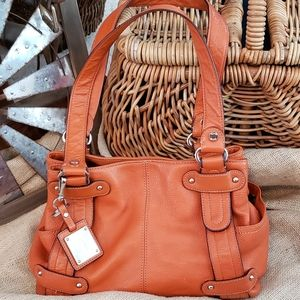 Tignanello Leather Shoulder/Satchel with Key Ring